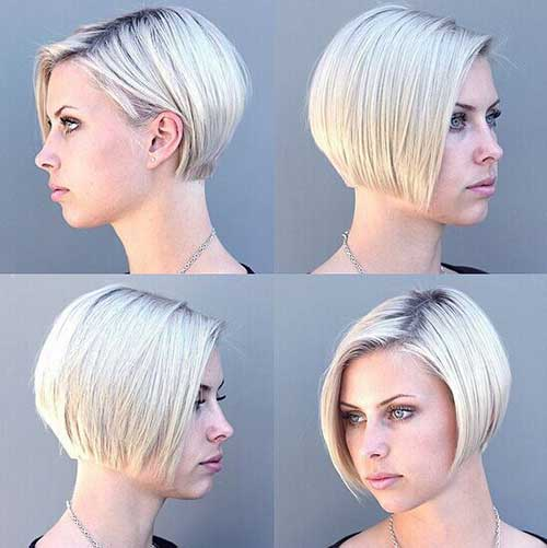 Short Fine Stacked Hairstyles