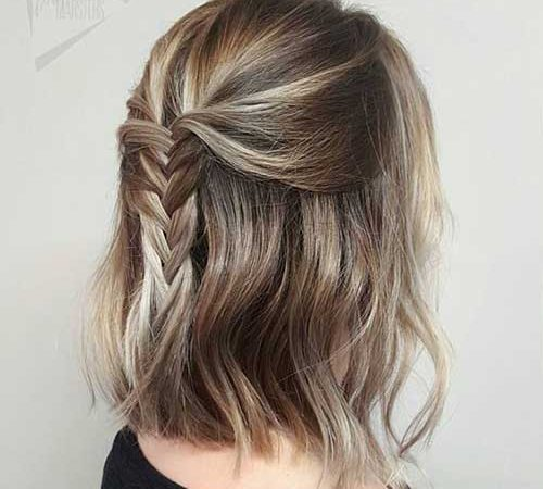 15 Examples of Simple Updos for Short Hair