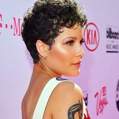 Celebrity Short Naturally Curly Hairstyles