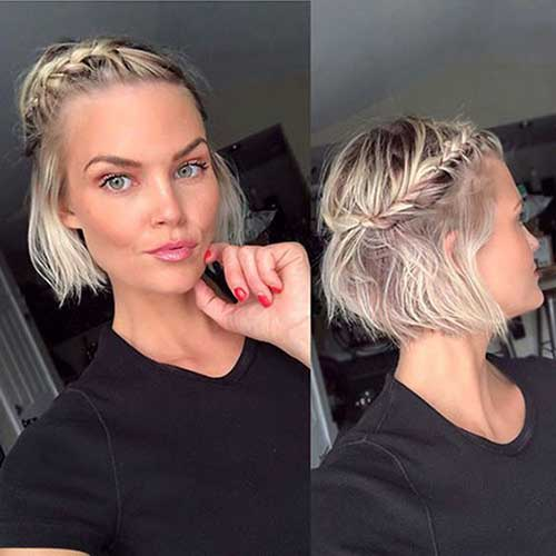 Short Blonde Updo Styles