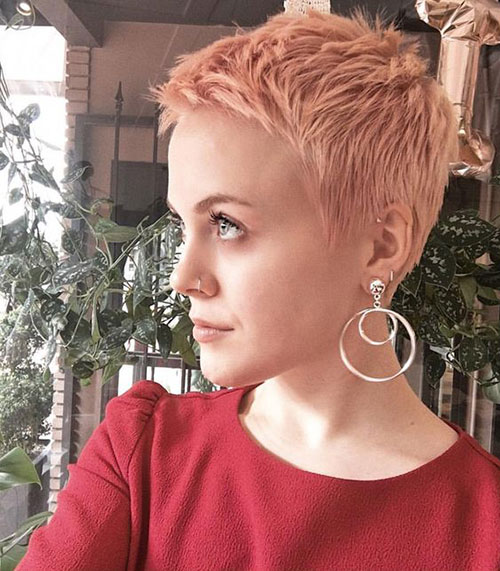 Pink Short Pixie Hairstyles
