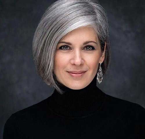 Short Grey Hairstyles for Over 50