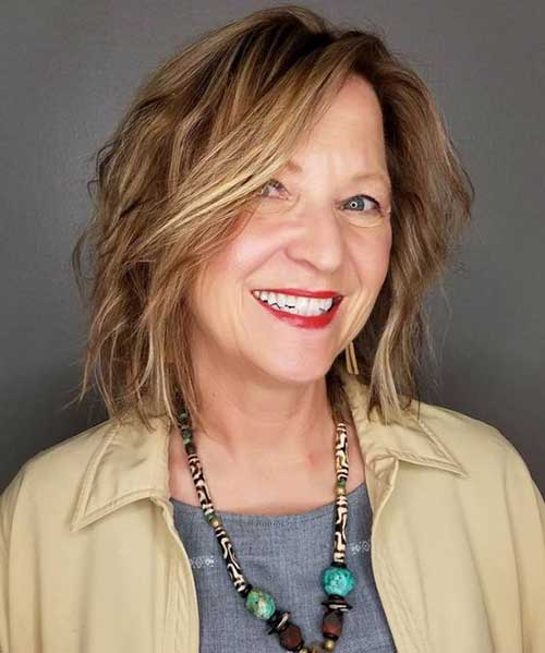 Short Layered Hairstyles for Over 50