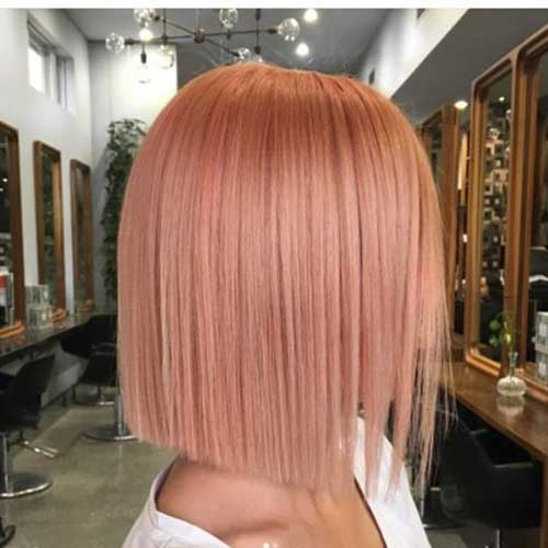 Short Pink Hairstyles for Straight Hair