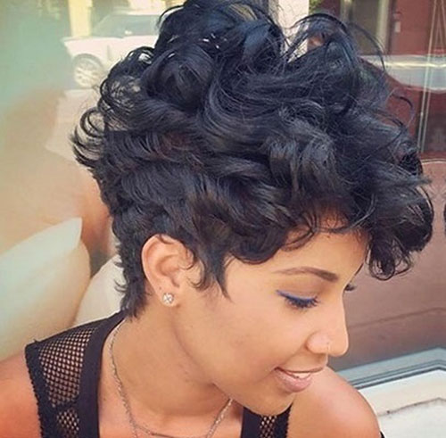 Cute Short Naturally Curly Hairstyles