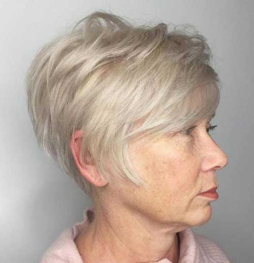 Short Blonde Hairstyles for Over 50