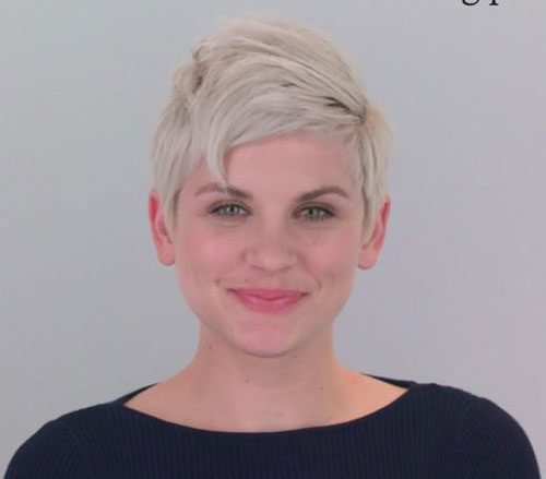 Short Platinum Blonde Pixie Hairstyles