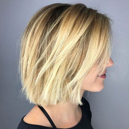 Short Blonde Hairstyles for Straight Hair