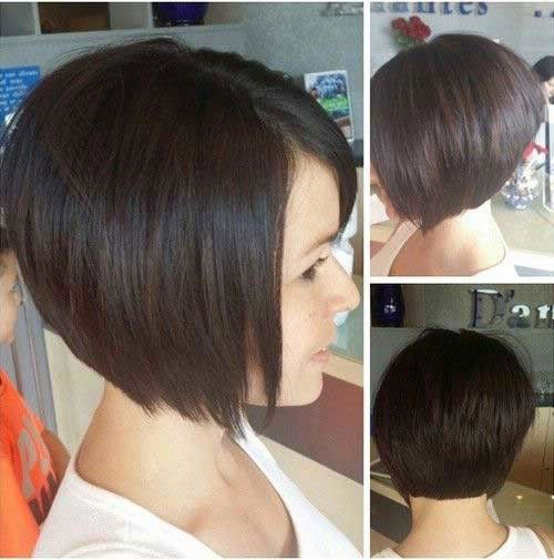 Short Stacked Hairstyles for Straight Hair