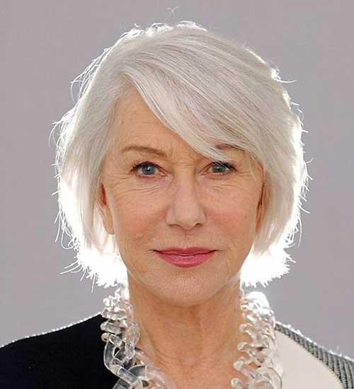 Short Silver Hairstyles for Over 50