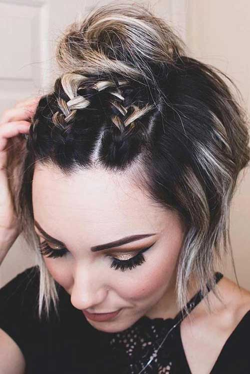 Short Braided Updo Styles