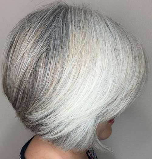 White Short Haircuts for Over 50