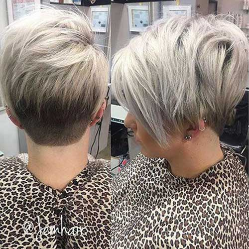 Ash Blonde Hairstyles for Short Layered Hair