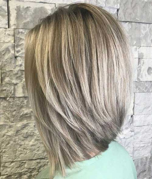 Straight Hairstyles for Short Layered Hair