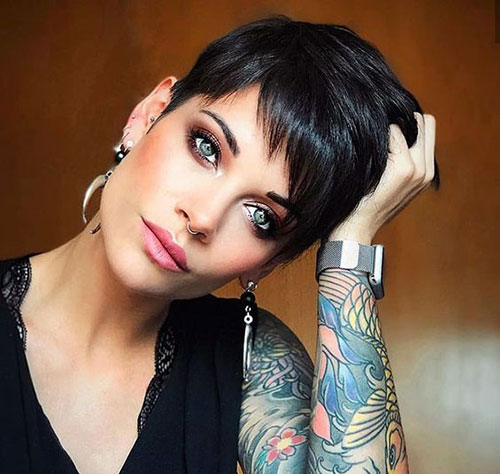 Black Short Fine Hairstyles