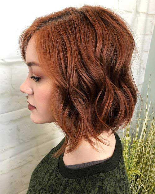 Short Layered Wavy Hairstyles
