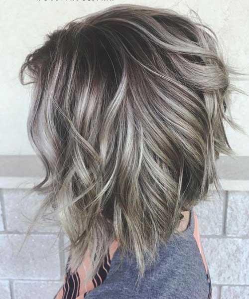 Silver Short Wavy Hairstyles