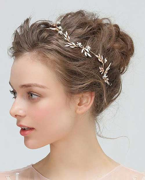 Boho Short Bridal Hairdos