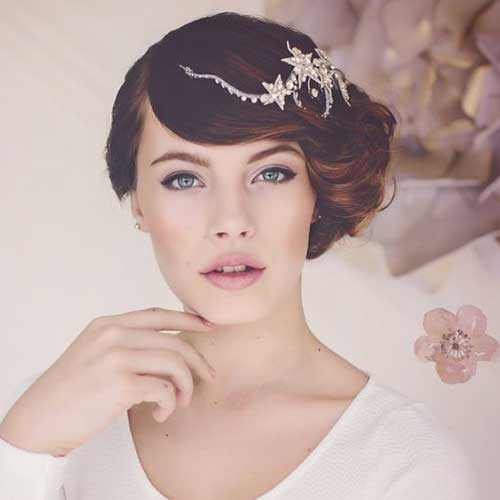 Celestial Short Bridal Hairdos