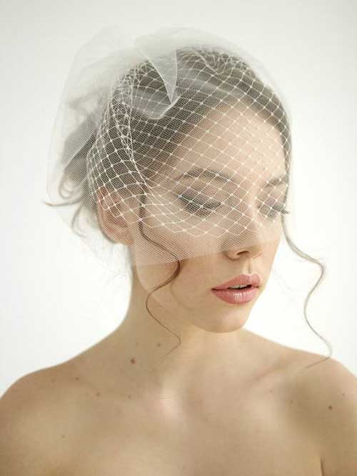 Cute Short Bridal Hairdos