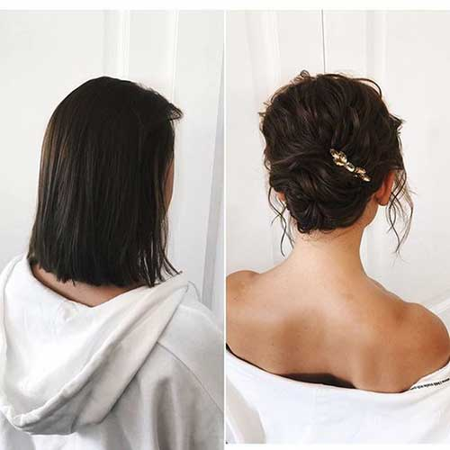 Trendy Short Bridal Hairdos