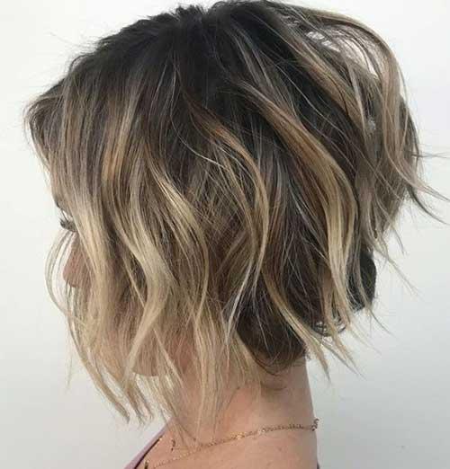 Layered A Line Bob Haircuts