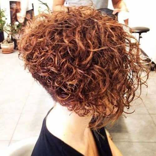 Chin Length Curly Bob Haircuts
