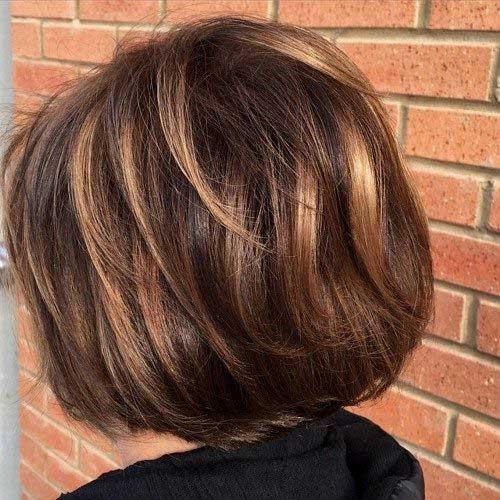 Dark Brown Layered Bob Haircuts