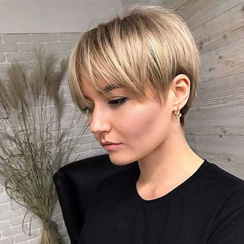 Short Pixie Hairstyles with Fringe