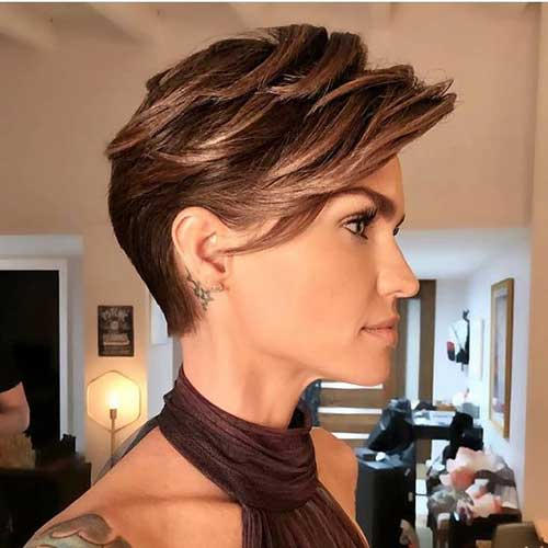 Ruby Rose Short Pixie Hairstyles