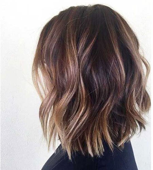 Wavy Short Haircuts with Highlights