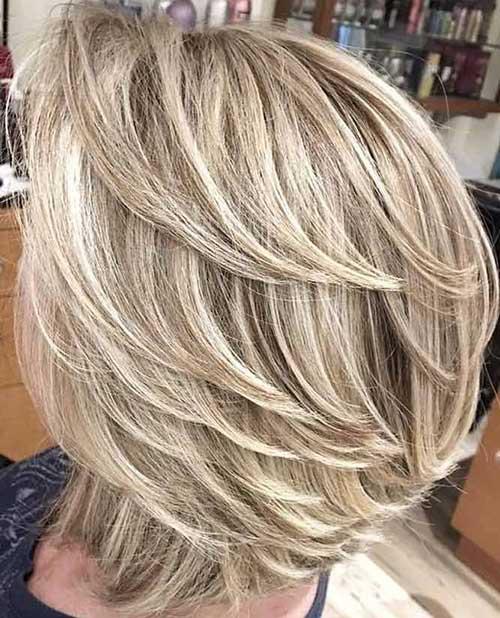 Layered Feathered Bob Haircuts