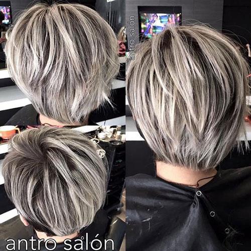 Straight Layered Bob Haircuts