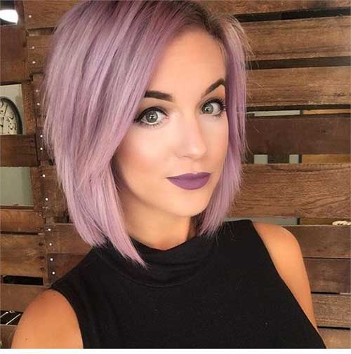 Short Straight Lilac Hairstyles