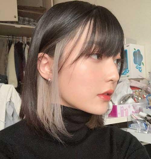 Short Straight Balayage Hairstyles