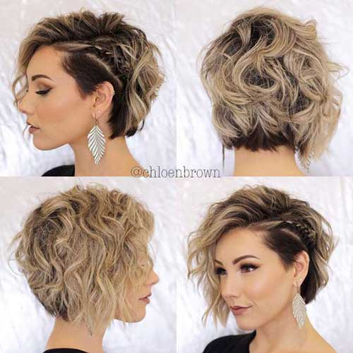 Blonde Curly Bob Haircuts