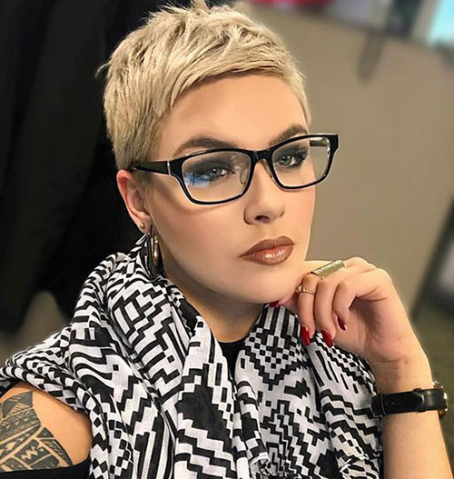 Pixie Hairstyles with Glasses for 2020