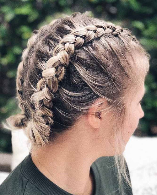 Lazy Braided Hairstyles for Short Hair