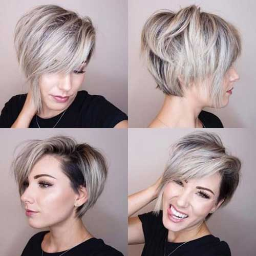 Inverted Bob Hairstyles with Undercut