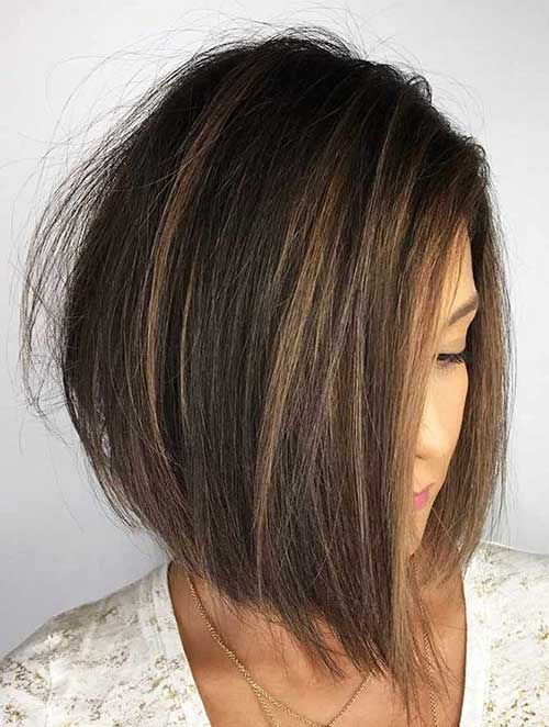 Inverted Choppy Bob Hairstyles