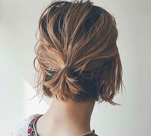 15+ Lazy Hairstyles for Short Hair for Lockdown Days