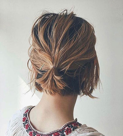 Lazy Hairstyles for Short Hair