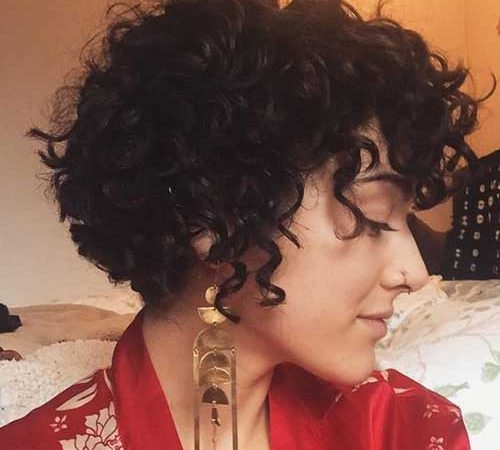 15+ New Short Hairstyles for Women with Curly Hair
