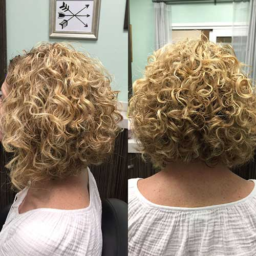 Blonde Bob Hairstyles for Curly Hair