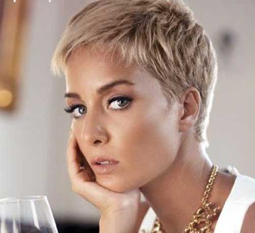Blonde Pixie Haircuts for Thick Hair