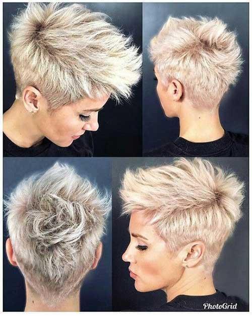 Blonde Pixie Mohawk Haircuts