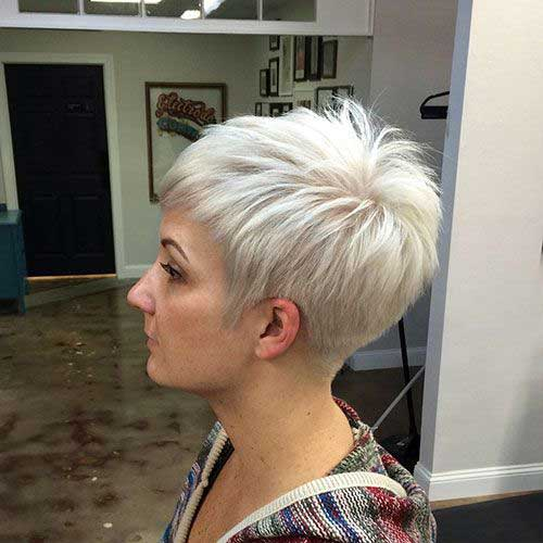 Blonde Spiky Pixie Haircuts