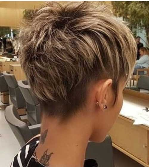 Blonde Wavy Pixie Haircuts