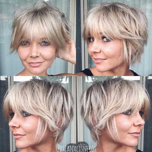 Blonde Pixie Haircuts with Fringe