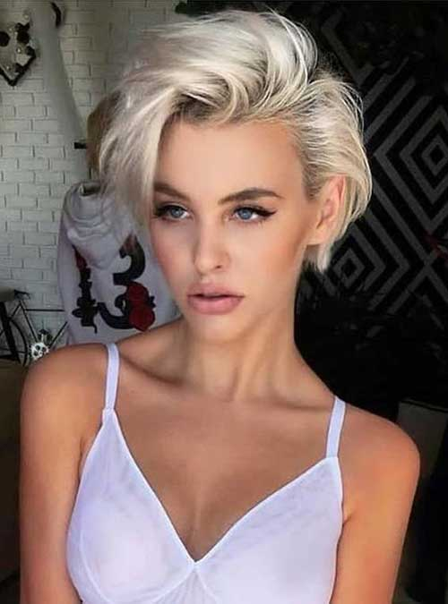 Platinum Blonde Pixie Haircuts